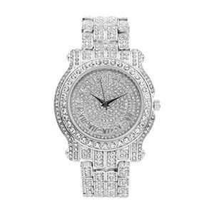 Bling-ed Out Silver Hip Hop Royalty Watch L0504
